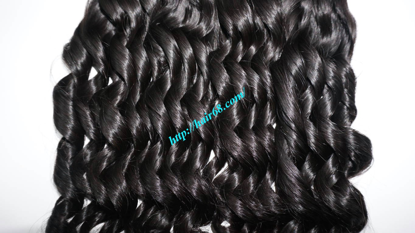 22 Inch Loose Curly Hair Weave No Shedding No Tangle