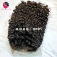 Curly Wave 13x4 Lace Front Wigs 16inches 130% Density