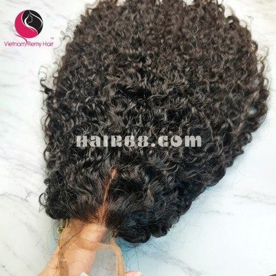 Curly Wave 2x4 Lace Closure Wigs 14inches 130% Density