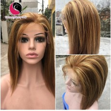 Vietnamese Straight 5x5 lace closure wigs 10 inches 180% Density