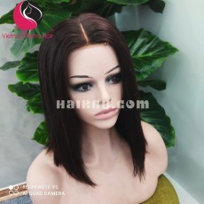 Natural Straight 5x5 lace closure wigs 12 inches 150% Density