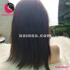 Straight 4x4 lace closure wigs 8 inches 180% Density