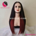 Straight 4x4 lace closure wigs 24 inches 180% Density