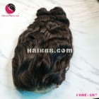Natural wavy 4x4 lace closure wigs 16 inches 180% Density