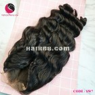 Water wavy 4x4 lace closure wigs 18 inches 180% Density