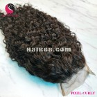 Pixel curly 4x4 lace closure wigs 16 inches 180% Density
