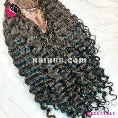Deep curly 4x4 lace closure wigs 22 inches 180% Density