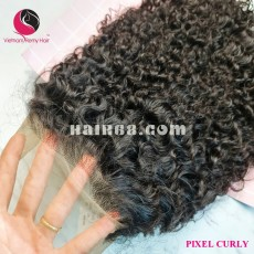 Fantastic curly 4x4 lace closure wigs 24 inches 180% Density
