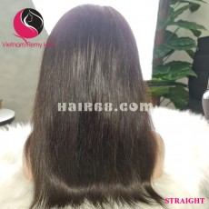 Straight 13X4 lace frontal wigs 8 inches 180% Density