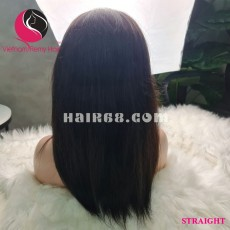 Straight 13X4 lace frontal wigs 10 inches 180% Density