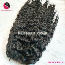 Candy Curly 2x4 lace closure wigs 24 inches 150% Density