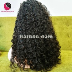 Tight Curly 2x4 lace closure wigs 28 inches 180% Density