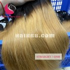 24 inch - Weave Ombre Hair Extensions Weft - Straight Double