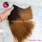 8 inch - Weave Black Ombre Hair Extensions - Straight Single