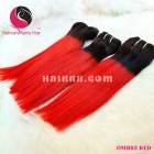12 inch - Weave Ombre Hair Extensions - Straight Single