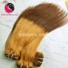 18 inch - Weave Black to Yellow Ombre Hair Extensions - Straight Single
