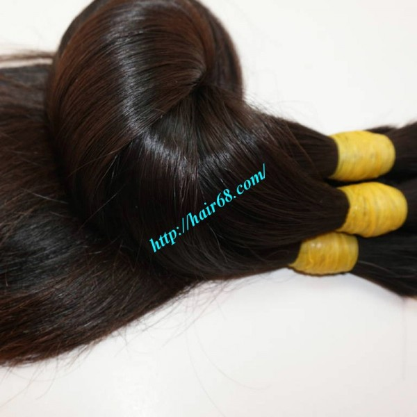 8 Inch Thick Human Hair Extensions Straight Single