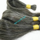 8 inch Natural Grey Hair - Straight Double