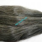 10 inch Grey Hair Extensions - Straight Double