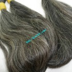 22 inch Buy Grey Hair Extensions - Straight Double
