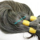 28 inch Grey And Black Hair Extensions - Straight Double