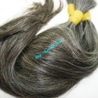 10 inch Cheap Grey Hair Extensions - Straight Single