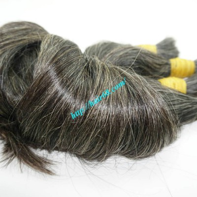 16 inch Grey Hair Piece Ponytail - Straight Single