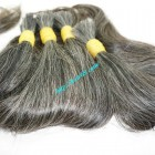 18 inch Real Grey Hair Extensions - Straight Single