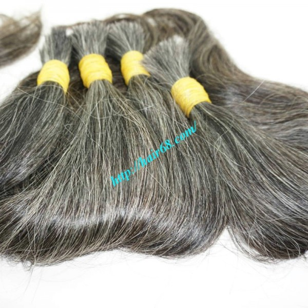 18 Inch Real Grey Hair Extensions Best Natural Hair