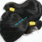 14 inch Human Hair Ponytail Extensions - Thick Wavy Single
