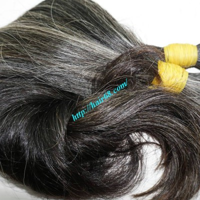 10 inch Grey Human Hair Extensions - Double