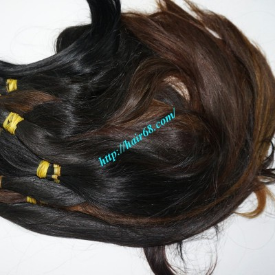 10 inch Cheap Human Hair Extensions Straight Double Drawn