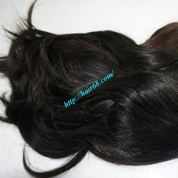 16 Inch Cheap Human Hair Extensions Straight Double Drawn