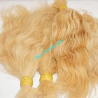 14 inch Blonde Hair Extensions Cheap - Wavy