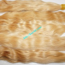 18 inch Wavy Blonde Hair Extensions