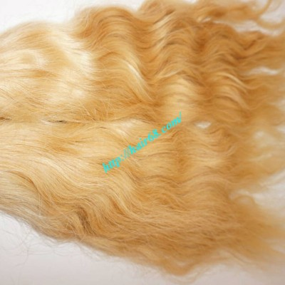 30 inch Blonde Hair Extensions - Natural Wavy