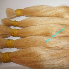 16 inch (40cm) Straight Bleached Blond Hair Extensions
