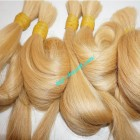 32 inch Blonde Human Hair Extensions Cheap - Straight