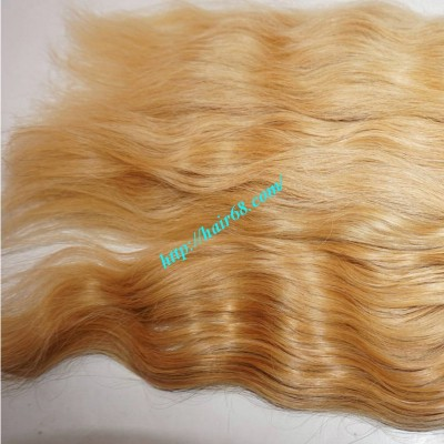 12inch Cheap Blonde Human Hair Weave - Natural Wavy
