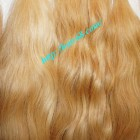 30 inch Blonde Human Hair Weave - Natural Wavy