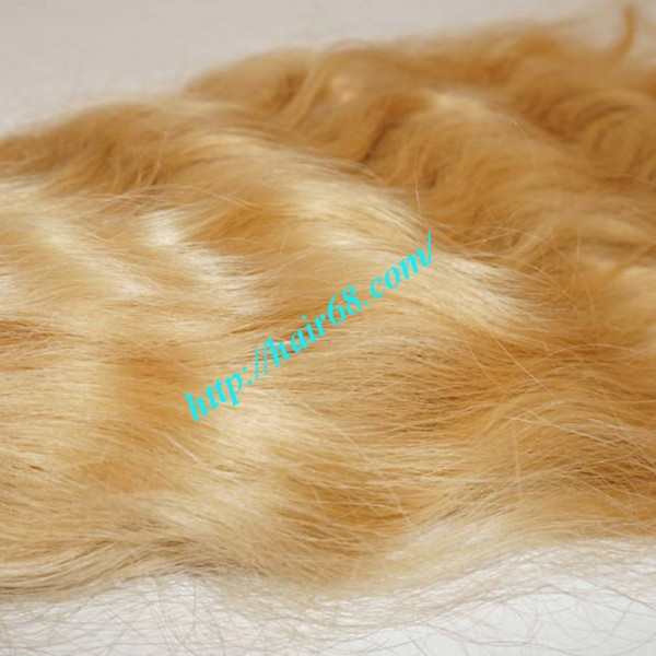 20 Inch Blonde Wavy Remy Hair Extensions