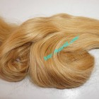 24 inch Blonde Wavy Remy Hair Extensions
