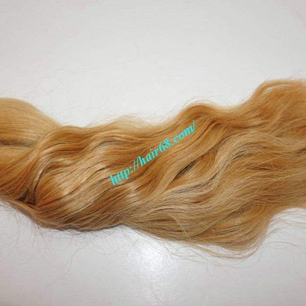 32 Inch Blonde Wavy Remy Hair Extensions