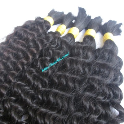 16 inch Natural Curly Hair Extensions - Double