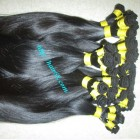 12 inch Hand Tied Weft Human Hair Extensions Straight Single