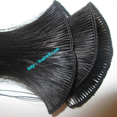 14 inch Hand Tied Remy Weft Hair Extensions Straight Double