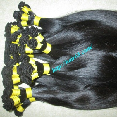 28 inch Hand Tied Remy Hair Weft Straight Single