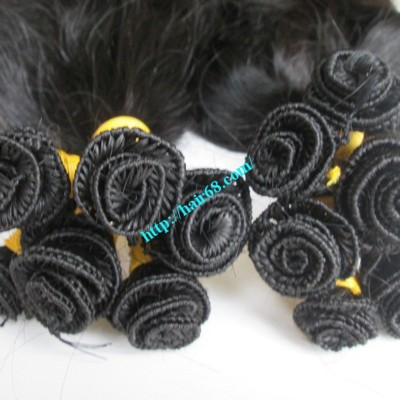 8 inch Hand Tied Remy Hair Weft – Wavy Single