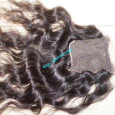 24 inches Middle Part Wavy Lace Closure 4x4
