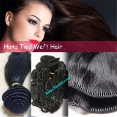 22 inch Hand Tied Weft Hair Extensions Straight Single